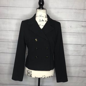 CAbi double breasted black blazer 6 #690